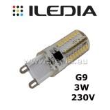 3W żarówka LED G9 64 SMD 3014 barwa biała ciepła